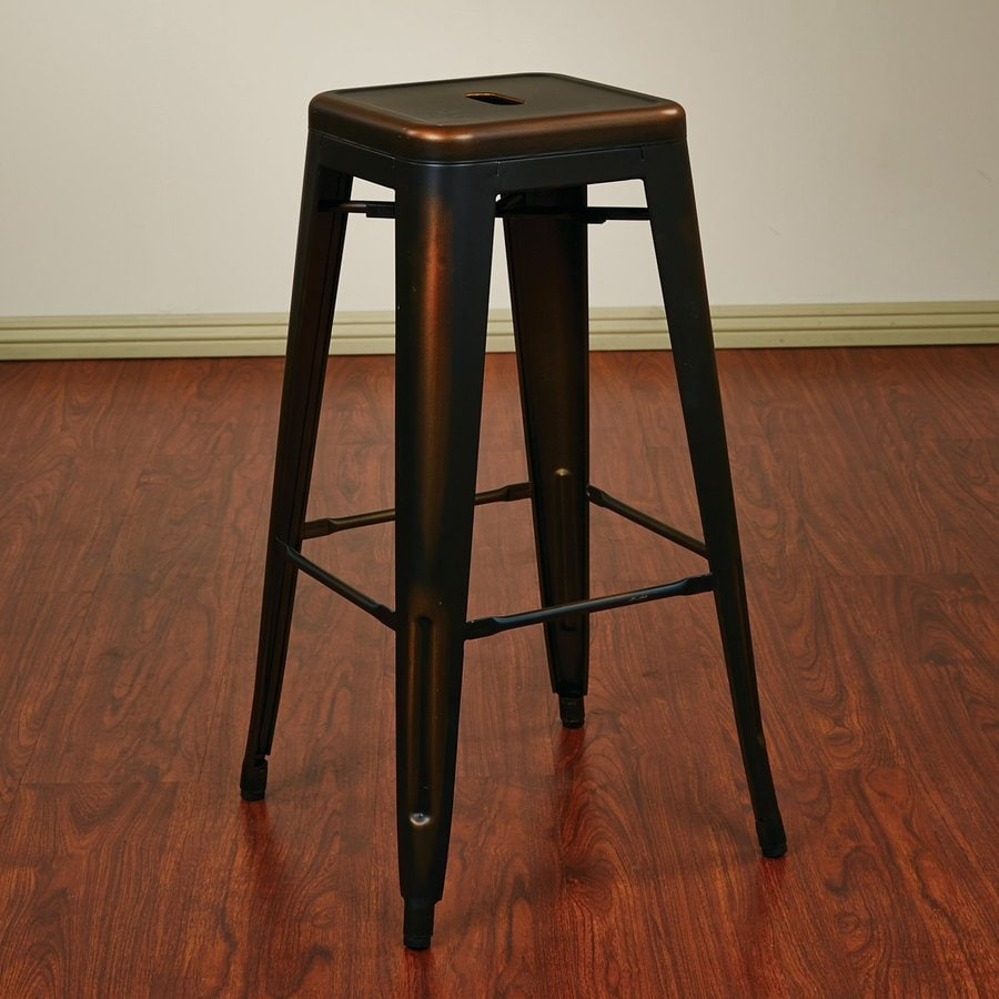 Office Star Bristow Set Of 2 Industrial Antique Copper Bar Stools