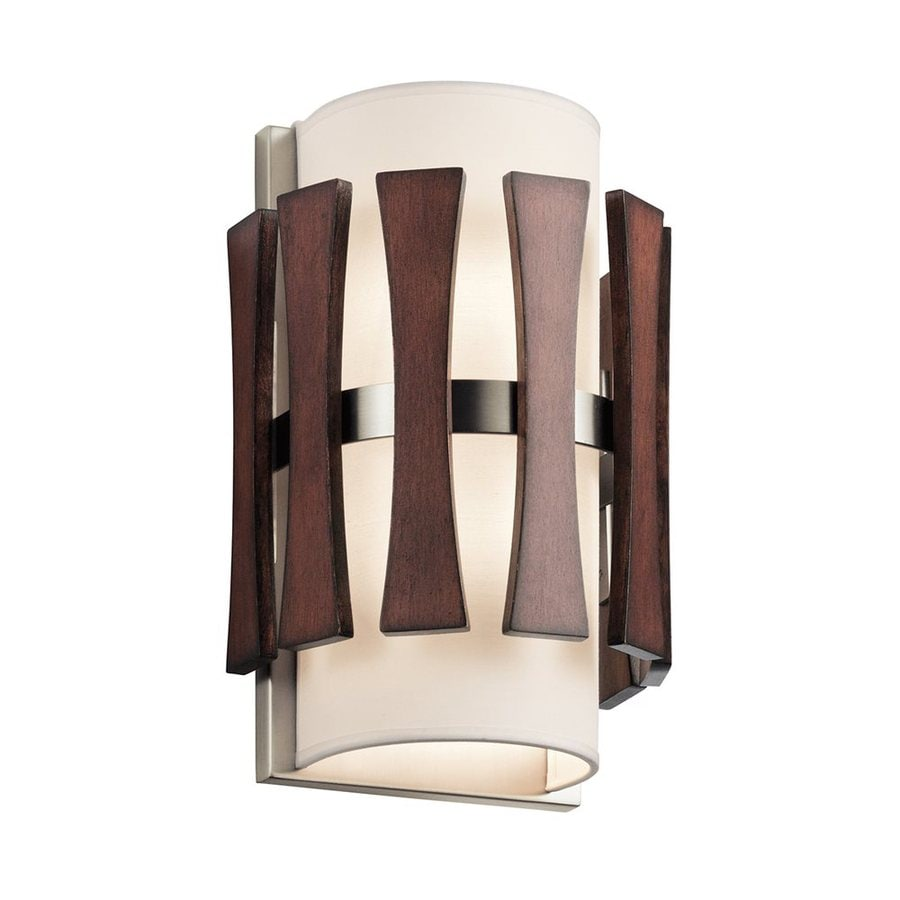 Kichler Cirus 7.5-in W 1-Light Auburn stained Pocket Wall Sconce