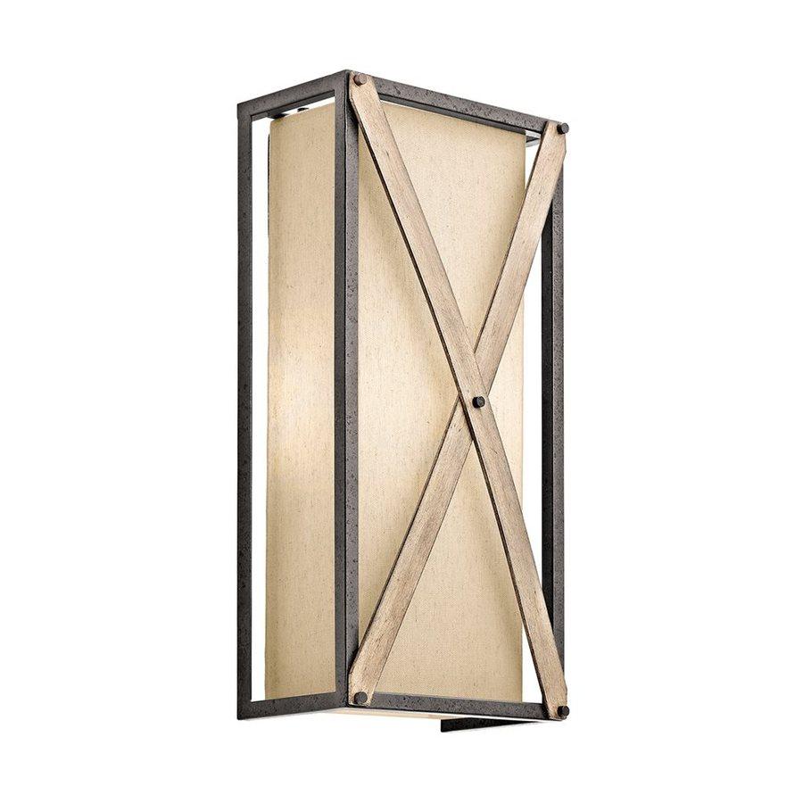 Kichler Lighting Cahoon 7.5-in W 1-Light Anvil Iron Pocket Wall Sconce
