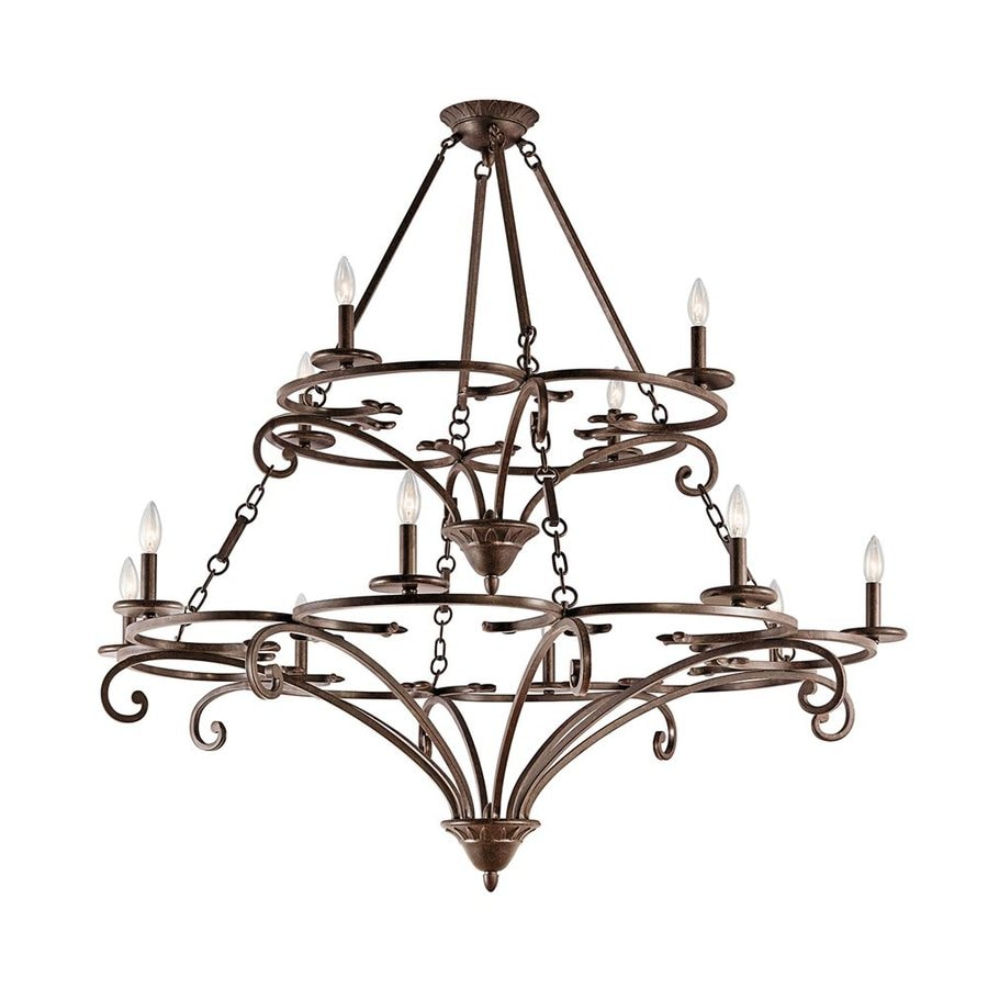 Shop Kichler Caldella 49 In 12 Light Aged Bronze