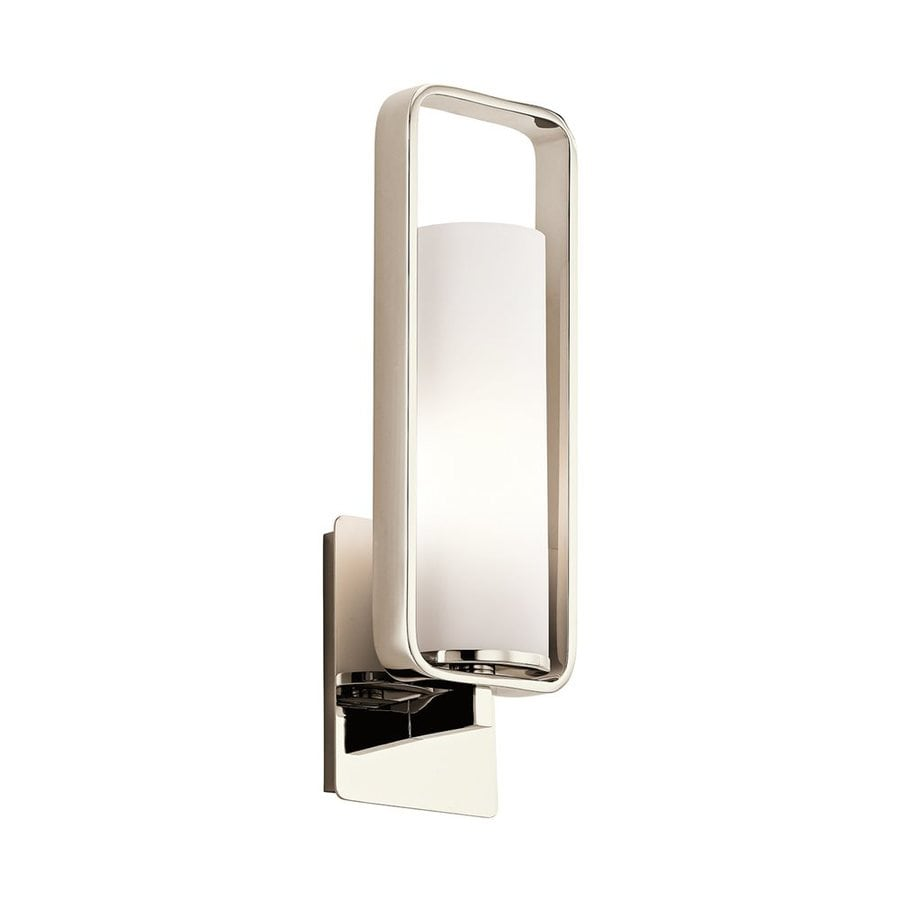 Kichler Lighting City Loft 5.5-in W 1-Light Polished Nickel Arm Wall Sconce