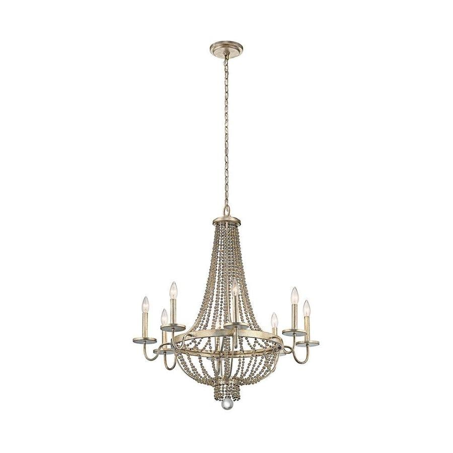 Kichler Birkdale 30.5-in 8-Light Sterling Gold Vintage Empire Chandelier
