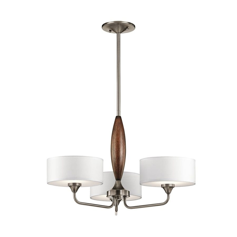 Kichler Lucille 24-in 3-Light Classic Pewter Shaded Chandelier