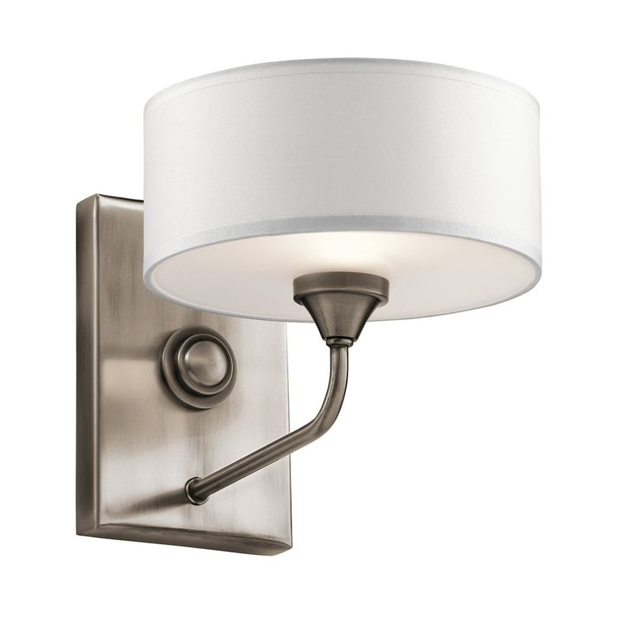 Kichler Lucille 7.75-in W 1-Light Classic Pewter Arm Hardwired Wall Sconce
