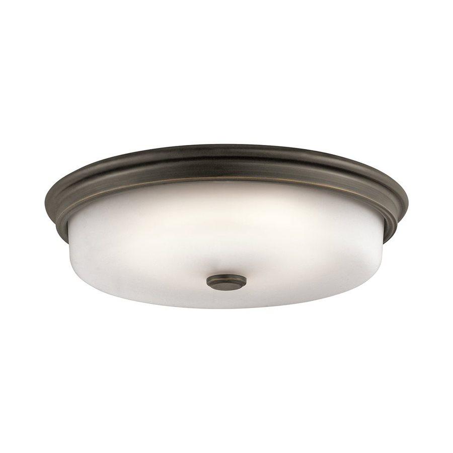 Kichler 16-in W Olde bronze LED Flush Mount Light