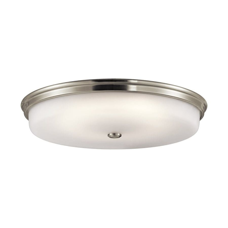 Kichler 24-in W Brushed nickel LED Flush Mount Light