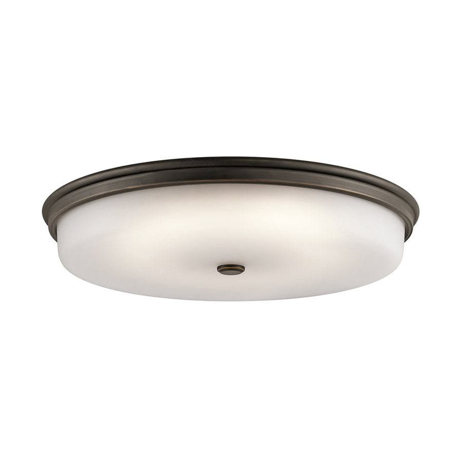 Kichler 24-in W Olde Bronze LED Flush Mount Light
