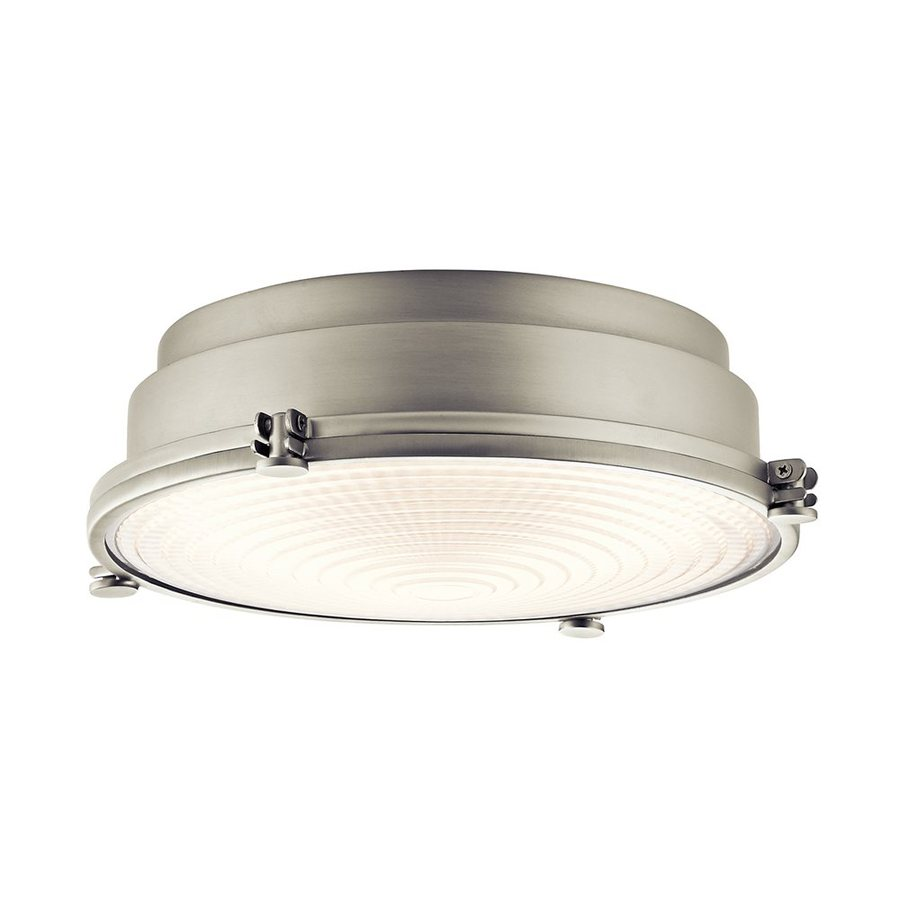 Kichler Lighting Hatteras Bay 13.25-in W Brushed Nickel LED Ceiling Flush Mount Light