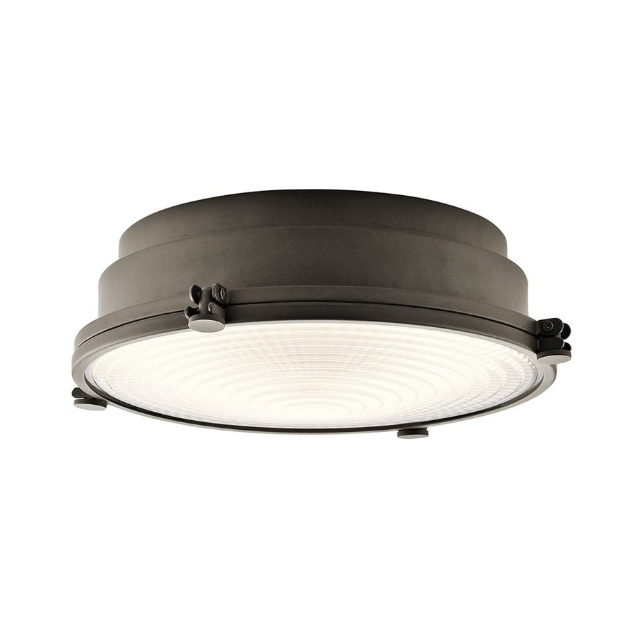 Kichler Lighting Hatteras Bay 13.25-in W Olde Bronze LED Ceiling Flush Mount Light