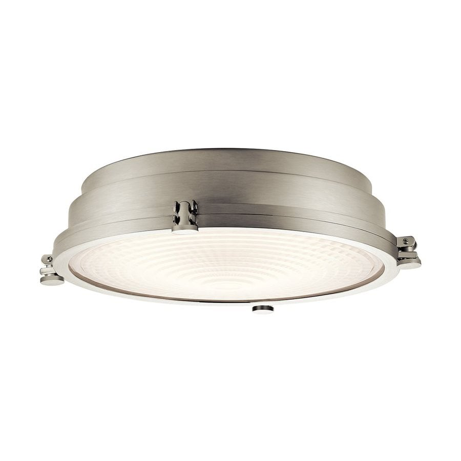 Kichler Lighting Hatteras Bay 18-in W Brushed Nickel LED Ceiling Flush Mount Light