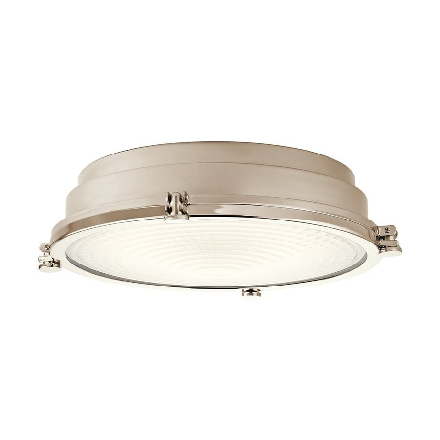 Kichler Lighting Hatteras Bay 18-in W Polished Nickel LED Ceiling Flush Mount Light
