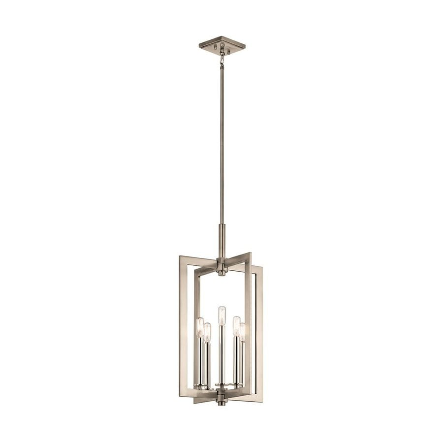 Kichler Cullen 14-in Classic Pewter Industrial Hardwired Single Geometric Pendant