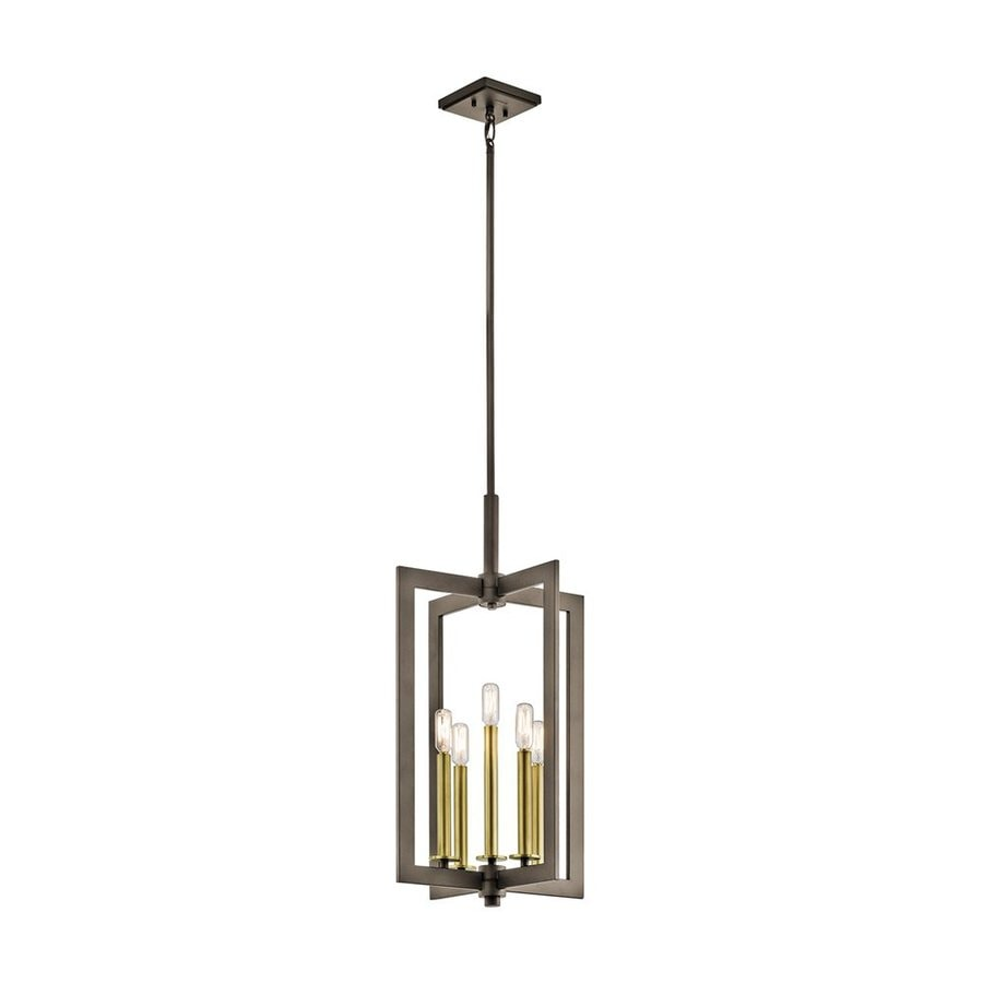 Kichler Lighting Cullen 14-in Olde Bronze Industrial Hardwired Single Geometric Pendant