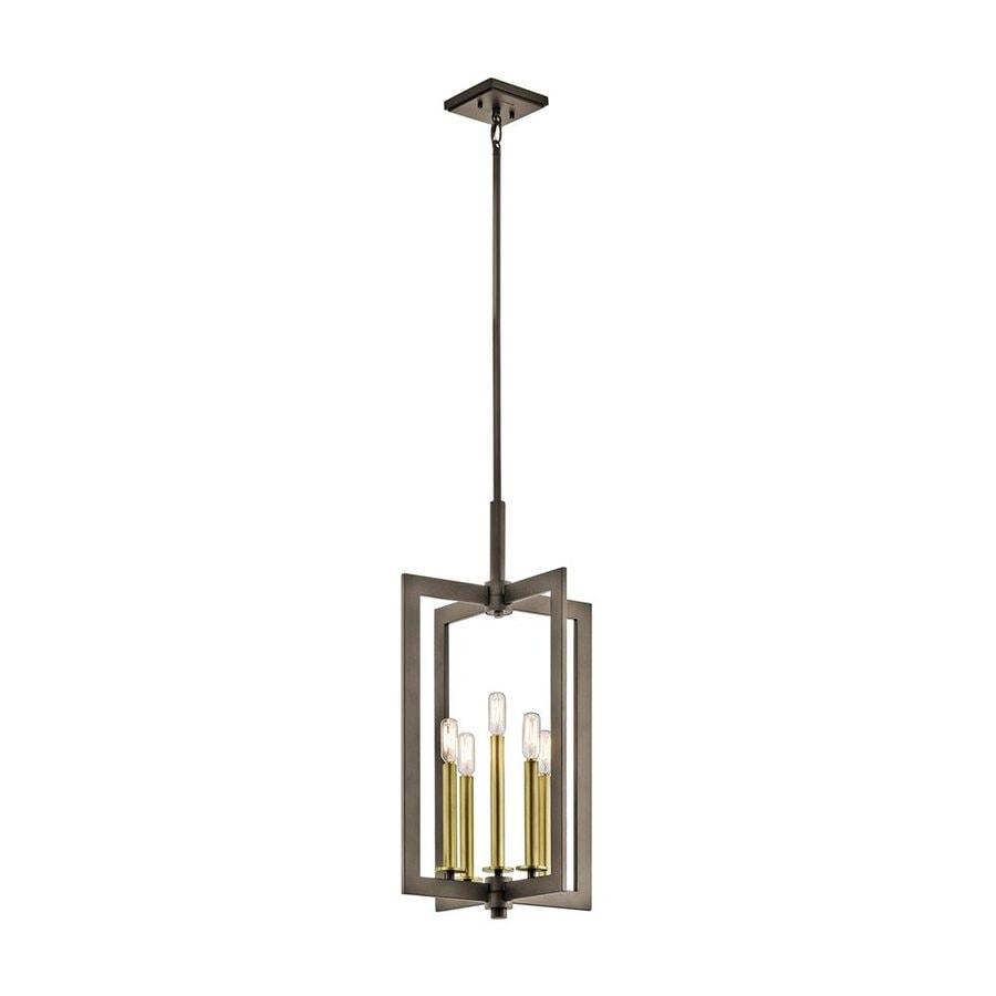 Kichler Cullen 14-in Olde Bronze Industrial Hardwired Single Geometric Pendant