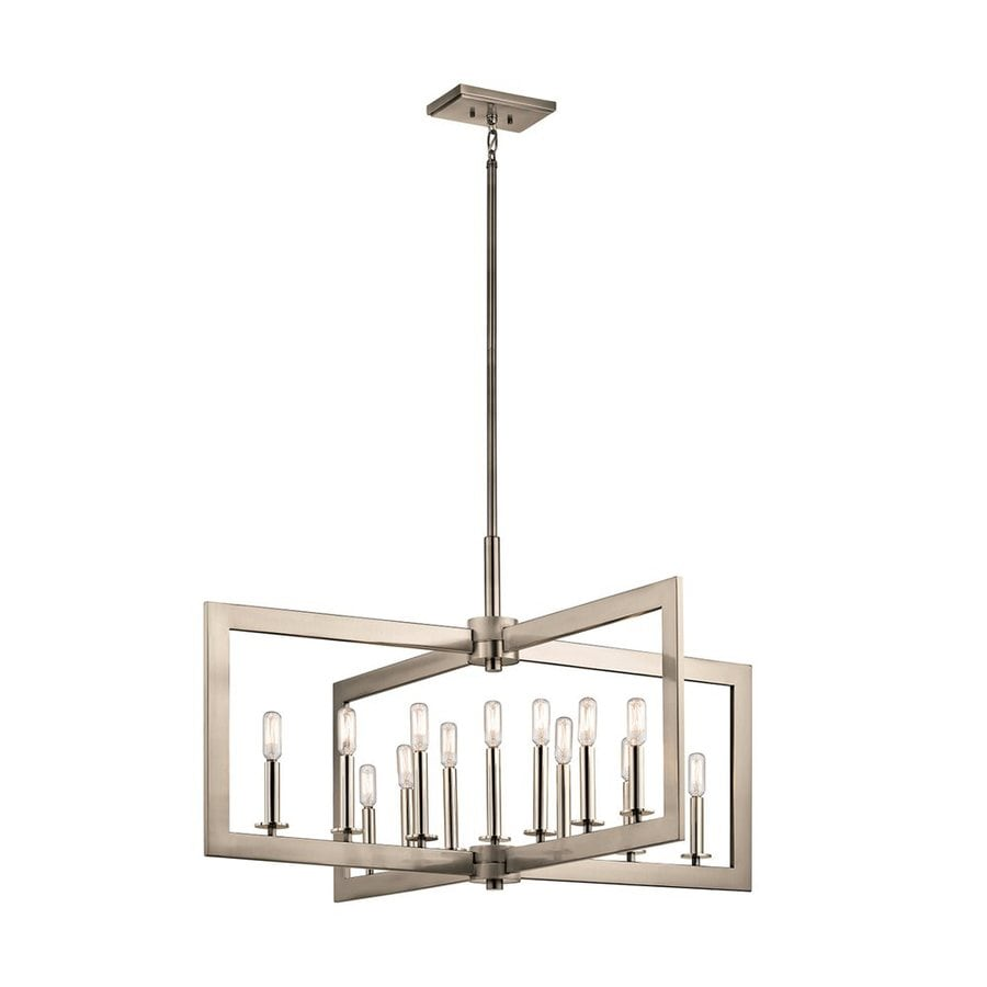Kichler Cullen 38.75-in 13-Light Classic Pewter Industrial Candle Chandelier