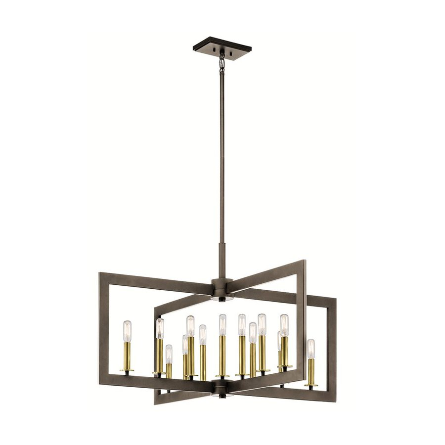 Kichler Cullen 38.75-in 13-Light Olde Bronze Industrial Candle Chandelier