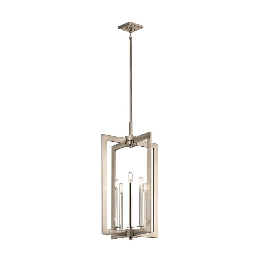 Kichler Cullen 18-in Classic Pewter Industrial Hardwired Single Geometric Pendant