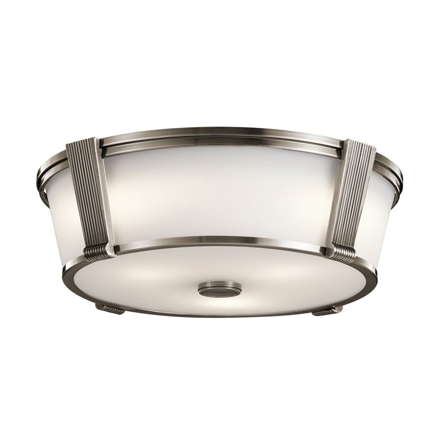 Kichler Grayson 17-in W Classic Pewter Flush Mount Light