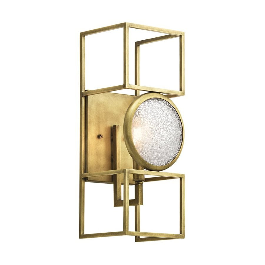 Shop Kichler Vance 6-in W 1-Light Natural Brass Candle Wall Sconce at Lowes.com