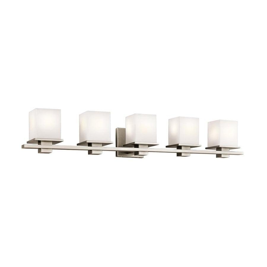 Kichler Lighting Tully 5-Light 6.5-in Antique Pewter Square Vanity Light