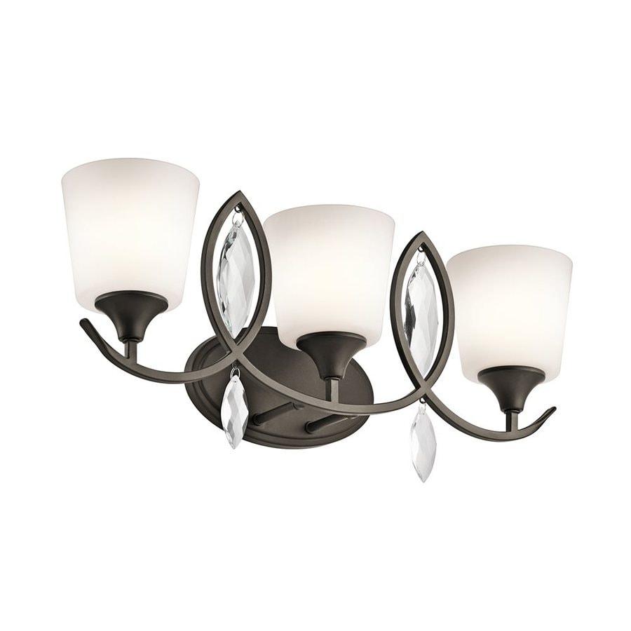 Kichler Lighting Casilda 3-Light 11-in Olde Bronze Cylinder Vanity Light