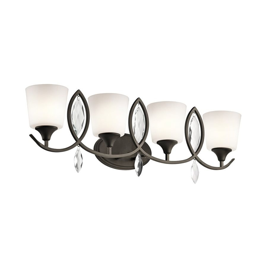Kichler Casilda 4-Light 11-in Olde Bronze Cylinder Vanity Light