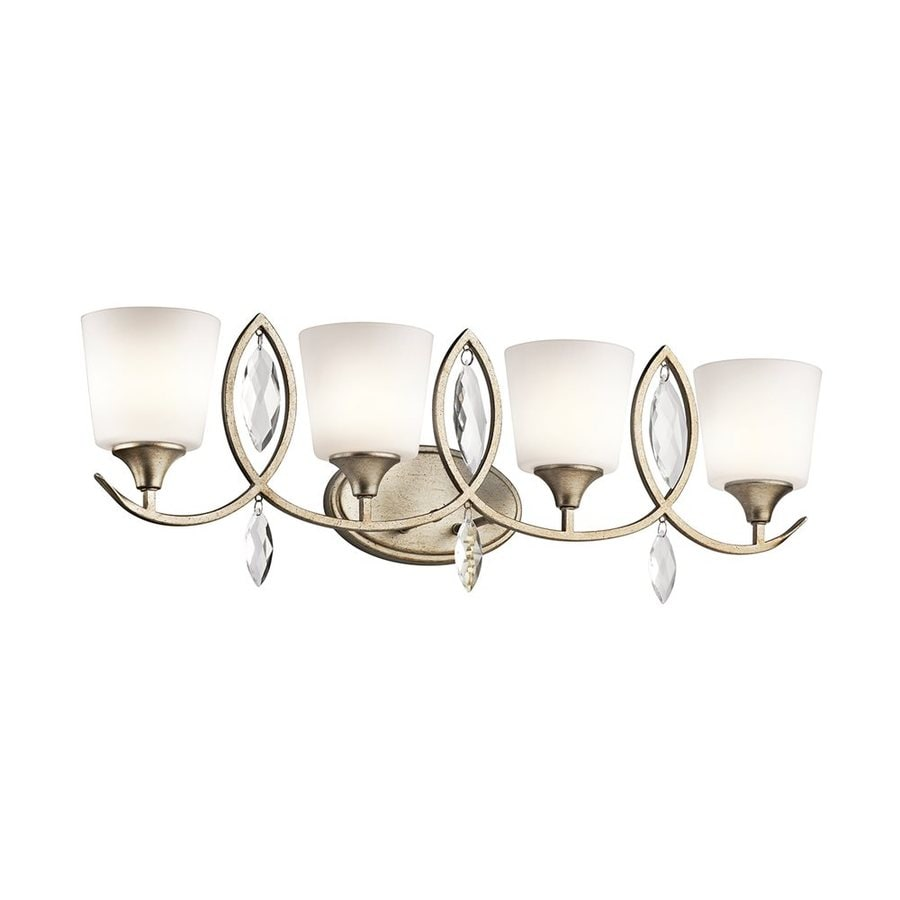 Kichler Casilda 4-Light 11-in Sterling gold Cylinder Vanity Light