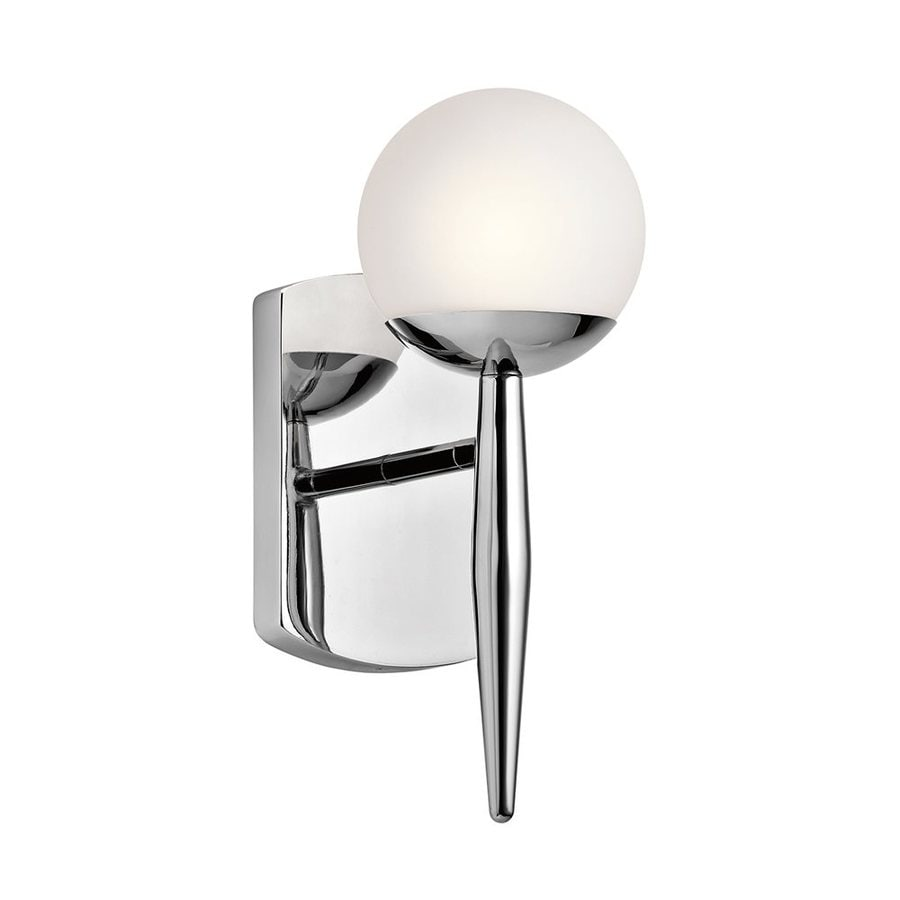 Shop Kichler Jasper 4.5-in W 1-Light Chrome Arm Wall Sconce at Lowes.com