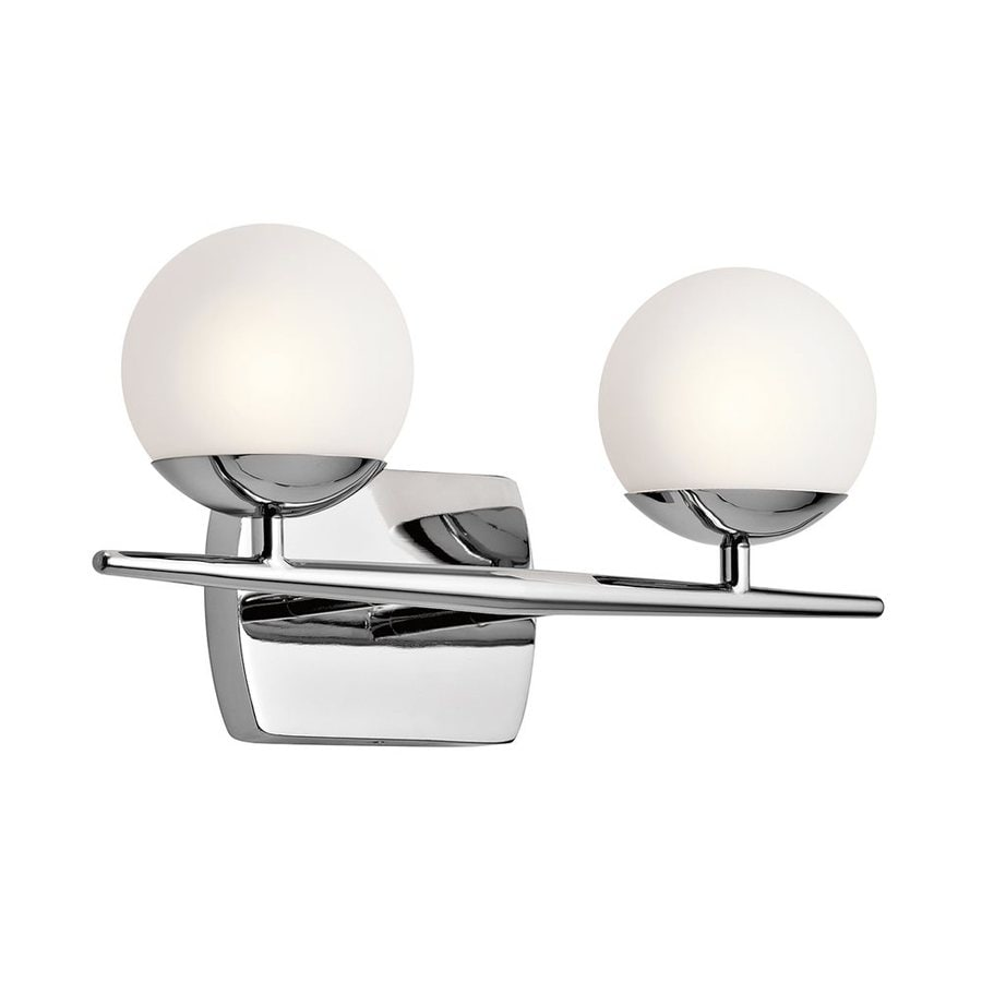 Kichler Jasper 2-Light 7.75-in Chrome Orb Vanity Light
