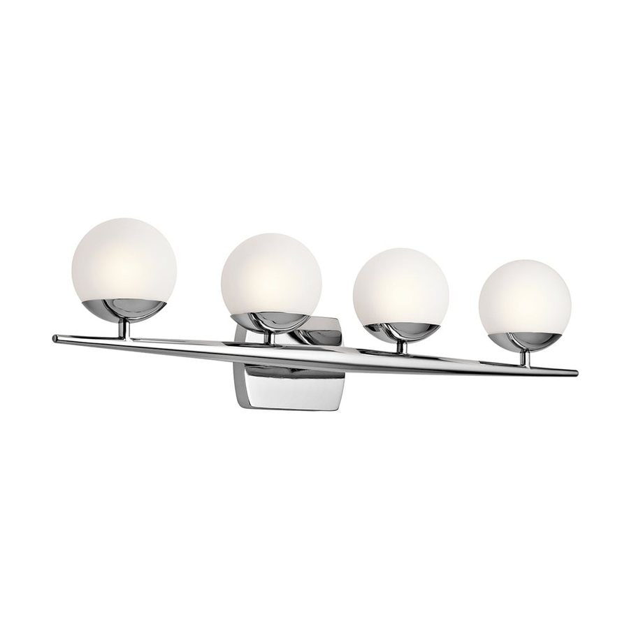 Kichler Jasper 4-Light 7.5-in Chrome Orb Vanity Light