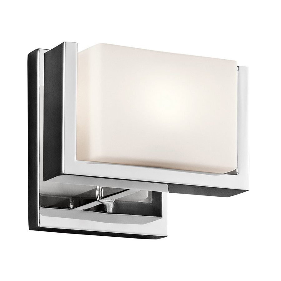 Vanity Lights Square : Shop Kichler Keo 1-Light 6-in Chrome Square Vanity Light at Lowes.com