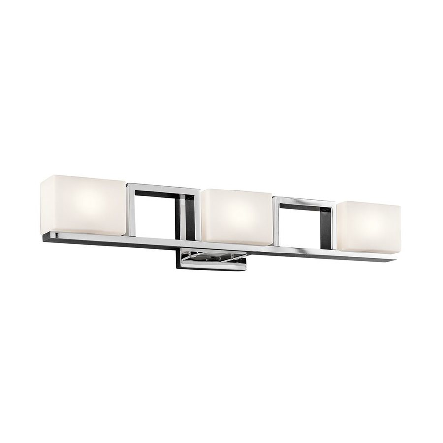 Kichler Lighting Keo 3-Light 5.5-in Chrome Rectangle Vanity Light
