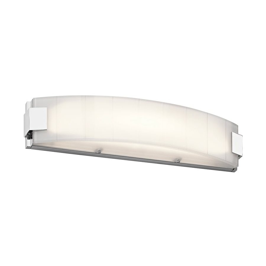 Kichler Largo 1-Light 5-in Chrome Rectangle LED Vanity Light Bar