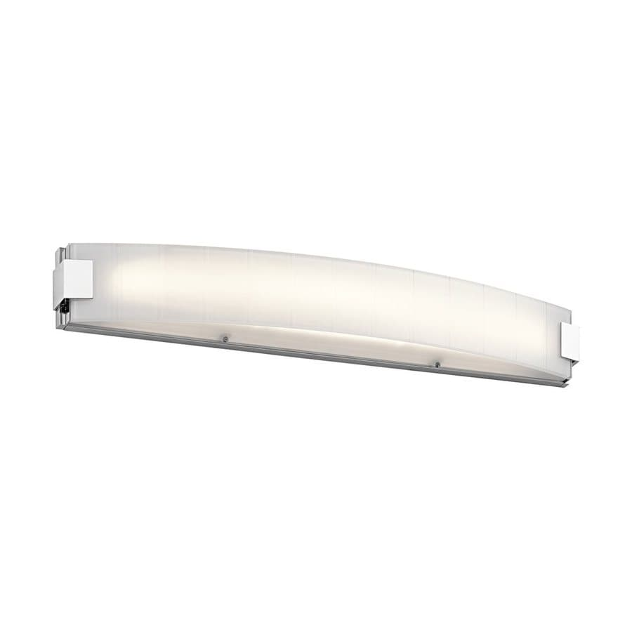 Shop Kichler Lighting Largo 1-Light 5-in Chrome Rectangle LED Vanity Light Bar at Lowes.com