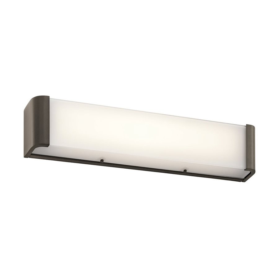 Kichler Landi 1-Light 5-in Olde Bronze Rectangle LED Vanity Light Bar