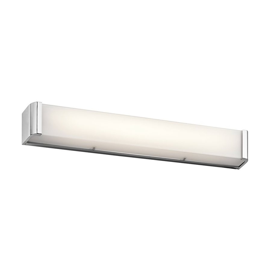 Kichler Landi 1-Light 5-in Chrome Rectangle LED Vanity Light