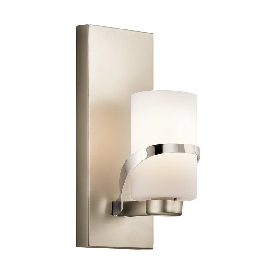 Kichler Vanity Lights Lowes : Shop Kichler Stelata 1-Light 12-in Polished Nickel Cylinder Vanity Light at Lowes.com