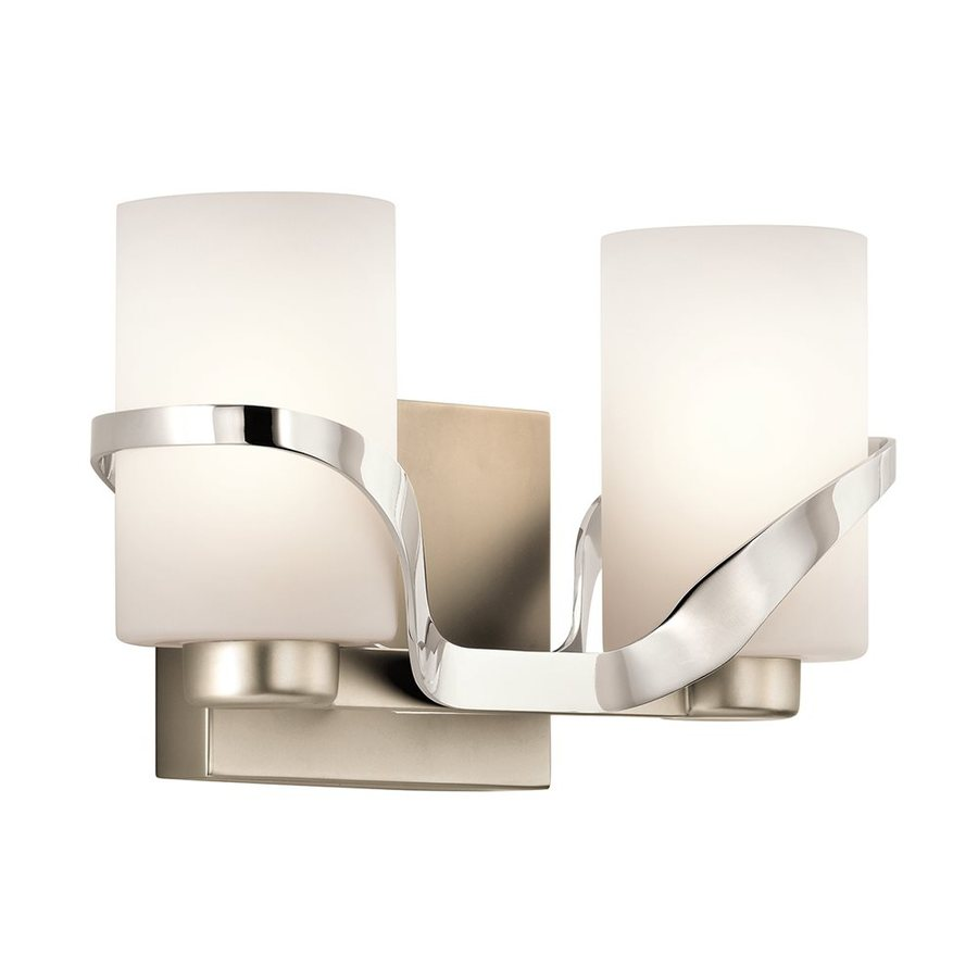 Kichler Lighting Stelata 2-Light 7-in Polished Nickel Cylinder Vanity Light