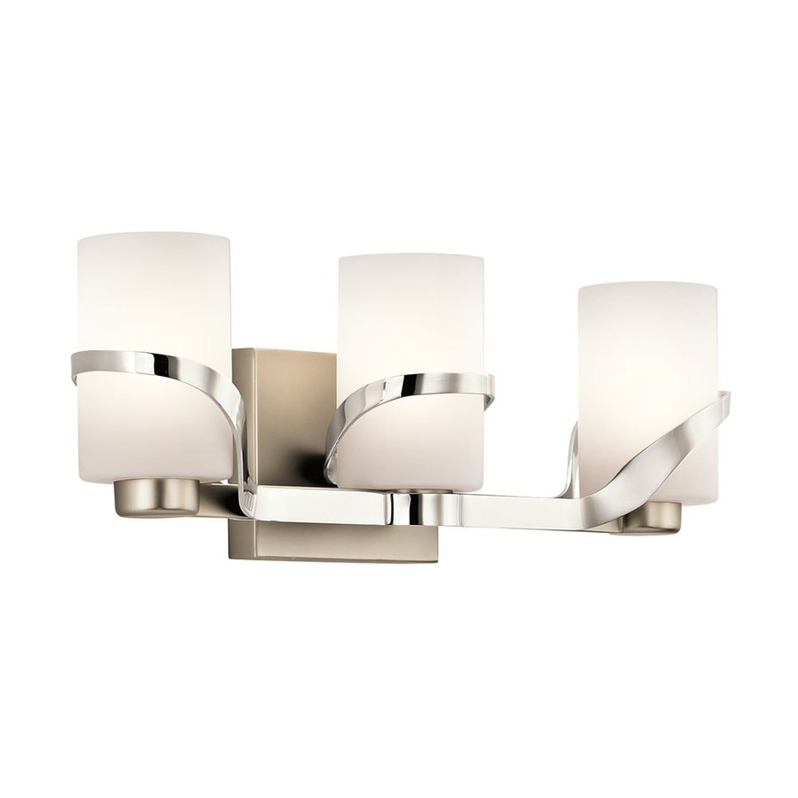 Kichler Lighting Stelata 3-Light 7-in Polished Nickel Cylinder Vanity Light