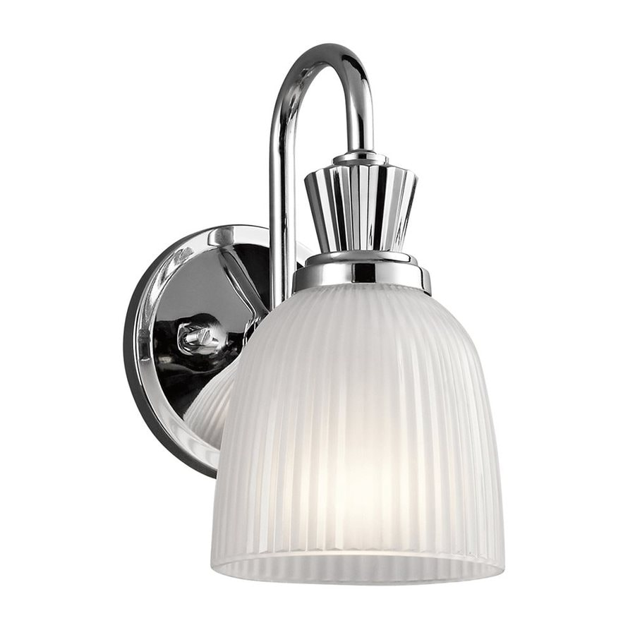 Kichler Vanity Lights Lowes : Shop Kichler Cora 1-Light 9.5-in Chrome Bell Vanity Light at Lowes.com