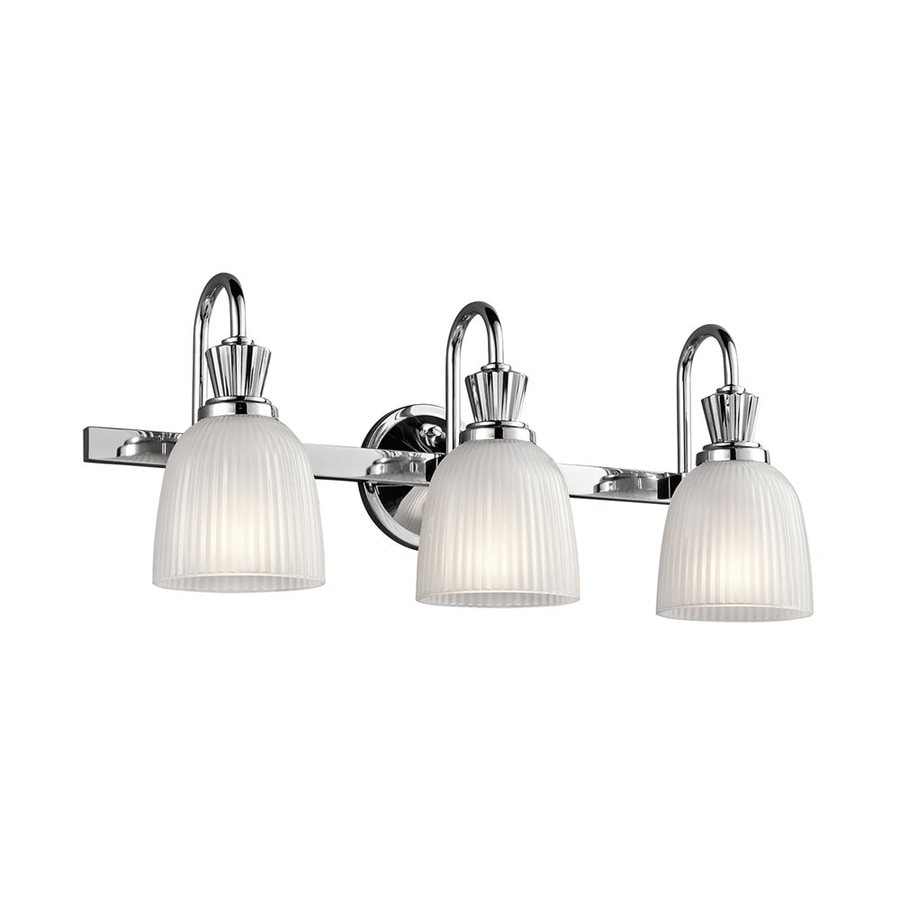 Kichler Cora 3-Light 9.5-in Chrome Bell Vanity Light