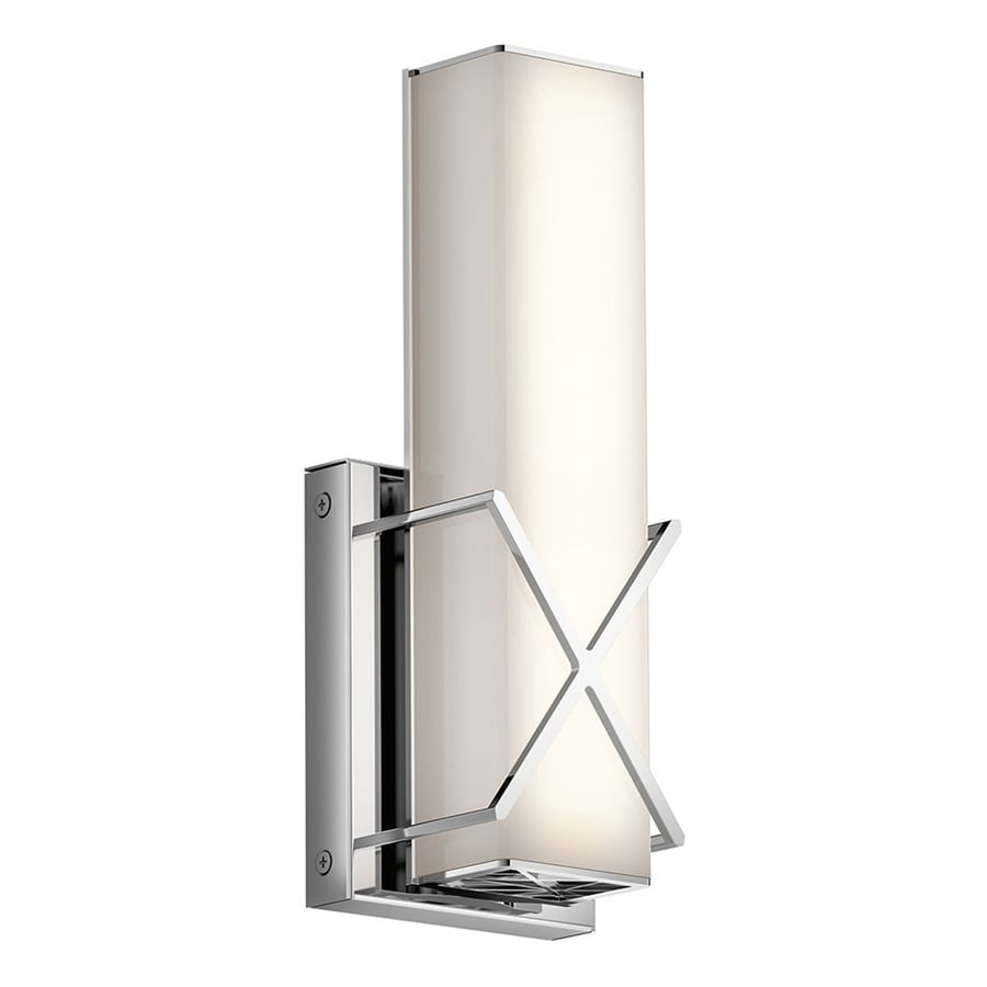 Kichler Lighting Trinsic 1-Light 12-in Chrome Rectangle Integrated LED Vanity Light