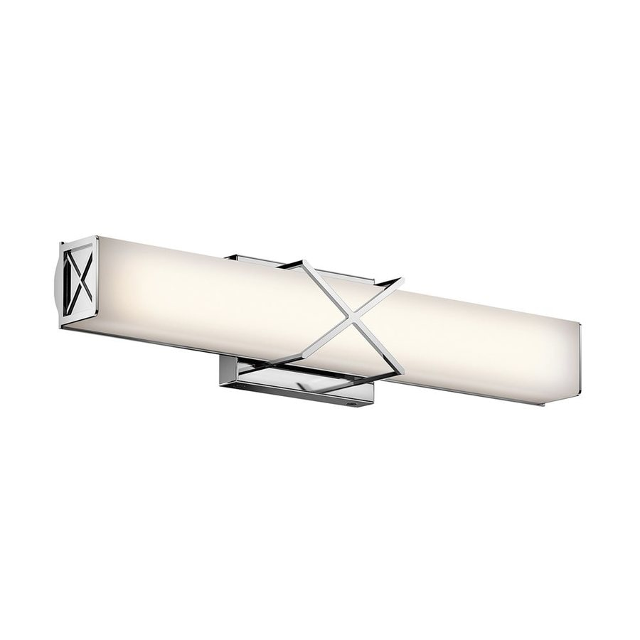 Kichler Trinsic 1-Light 4.5-in Chrome Rectangle LED Vanity Light Bar