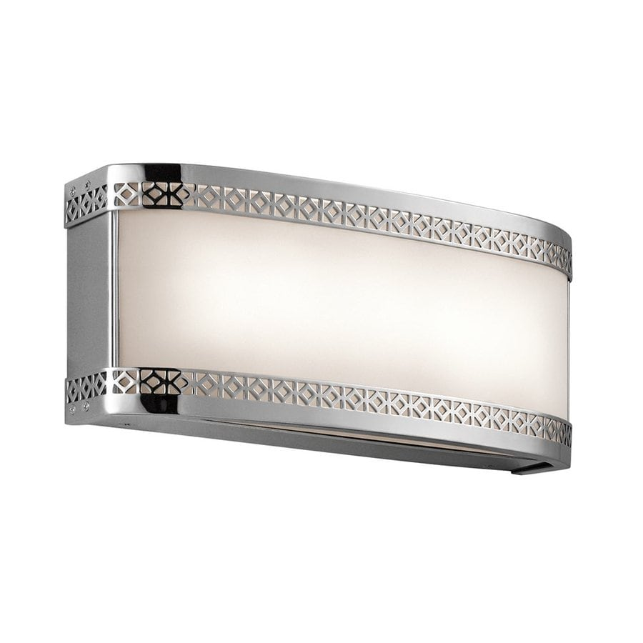 Vanity Light Bar Chrome : Shop Kichler Lighting Contessa 1-Light 5-in Chrome Rectangle LED Vanity Light Bar at Lowes.com