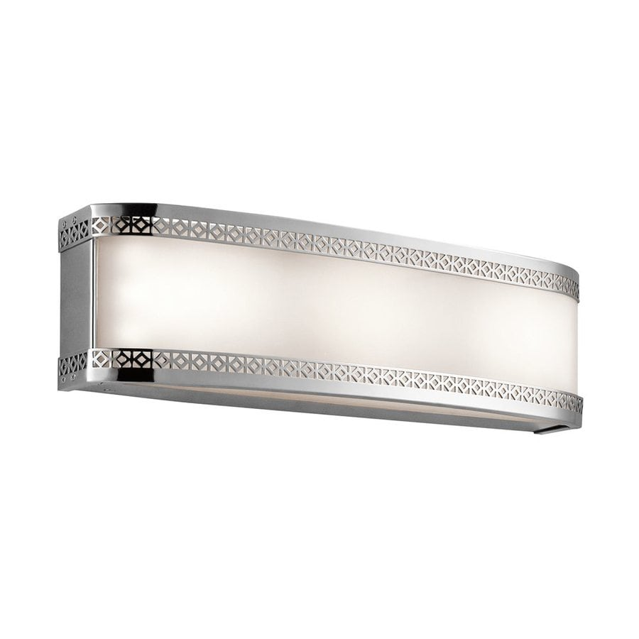 Vanity Light Bar Installation : Shop Kichler Contessa 1-Light 5-in Chrome Rectangle LED Vanity Light Bar at Lowes.com