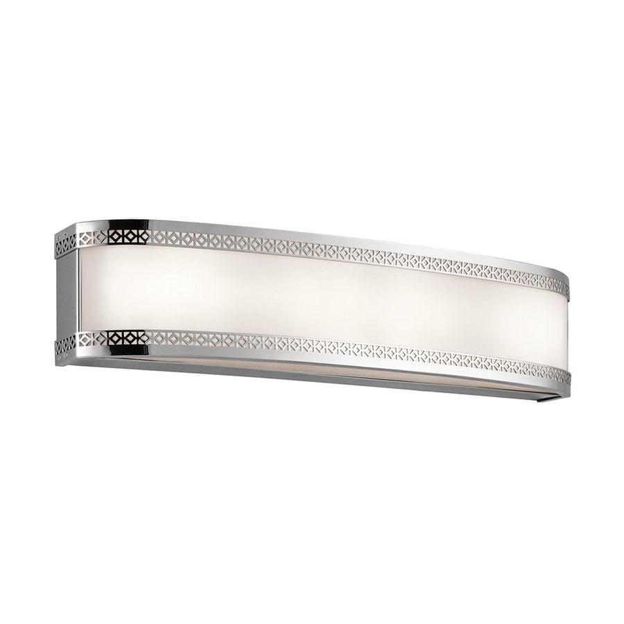 Kichler Contessa 1-Light 5-in Chrome Rectangle LED Vanity Light Bar