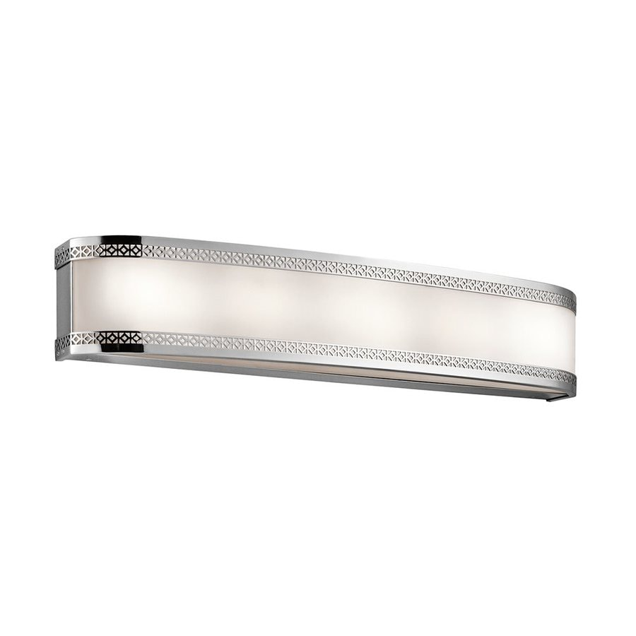 Vanity Light Bar Chrome : Shop Kichler Contessa 1-Light 5-in Chrome Rectangle LED Vanity Light Bar at Lowes.com