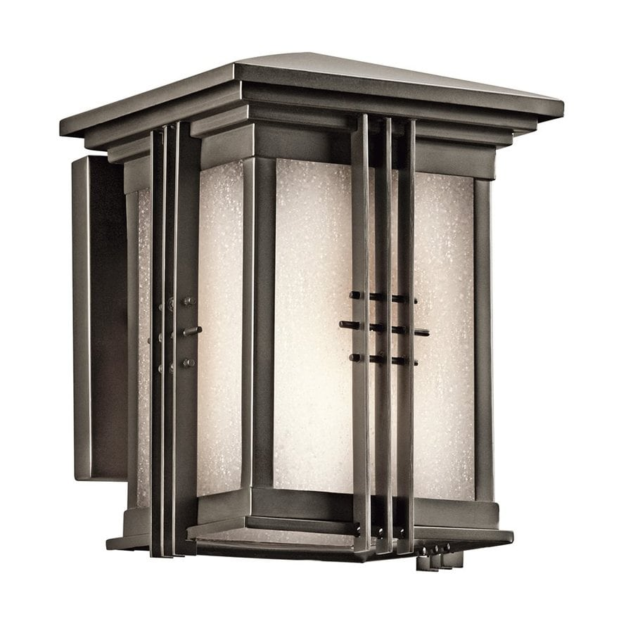 Kichler Portman Square 8-in H Olde Bronze Outdoor Wall Light