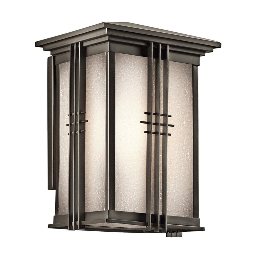 Kichler Portman Square 10.75-in H Olde Bronze Outdoor Wall Light