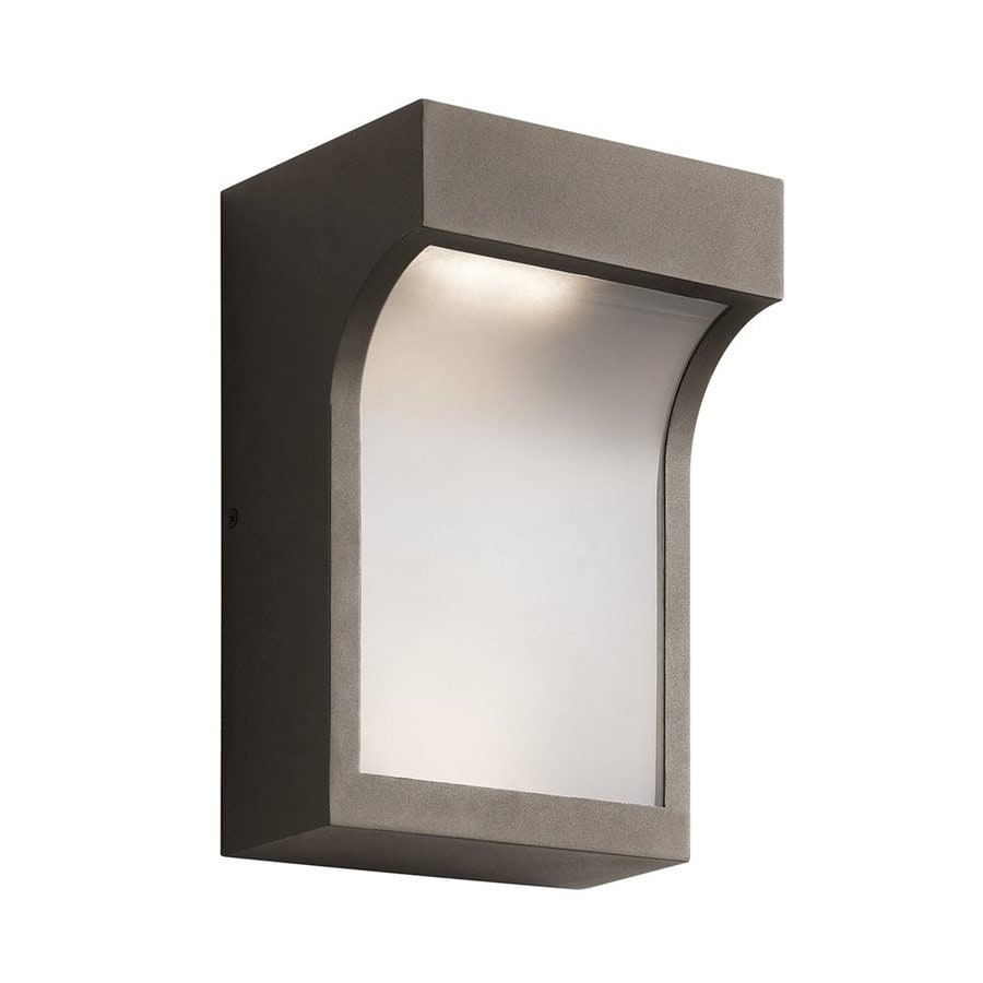 Shop kichler shelby 11 in h textured architectural bronze led kichler shelby 11 in h textured architectural bronze led outdoor wall light aloadofball Gallery
